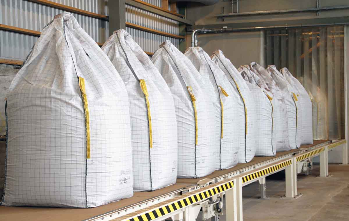 Lignin sacks
