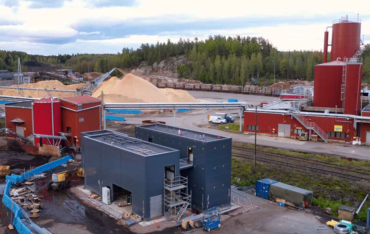 Heinola pilot plant for bio sludge