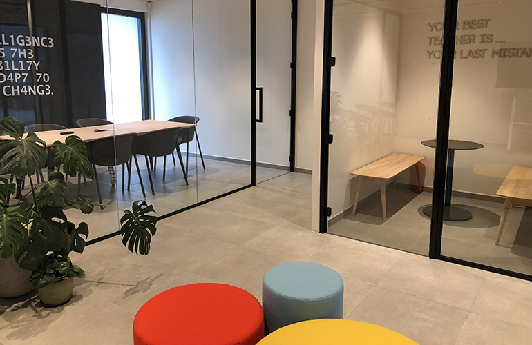 Meeting rooms inside the newly built office building