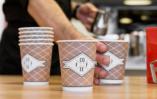 Paper cups coffee to go