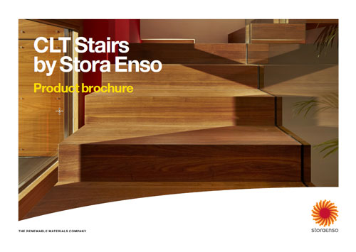 CLT stairs by Stora Enso