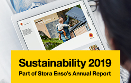 Stora Enso's Sustainabilit report 2019