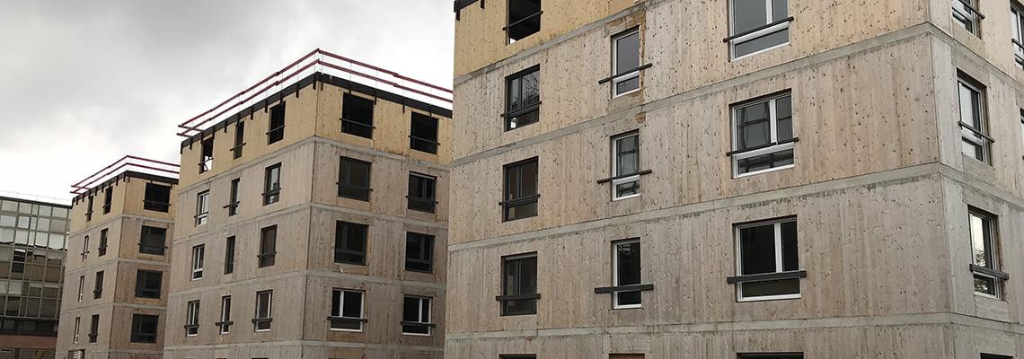 Hall of residence - Le Luzard II - Flats - Noisiel, France