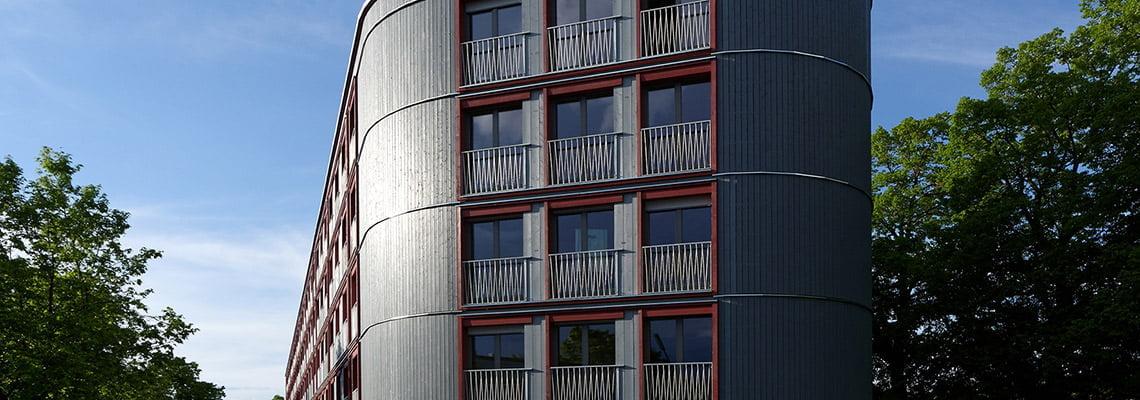 Housing over parking area Dantebad - Flats - Munich, Germany