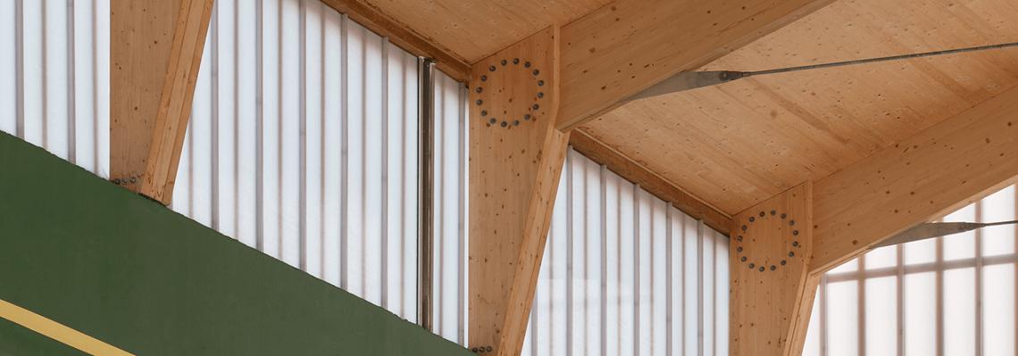 Wooden roof construction for the Fronton Gure Jokoa - Others - Orkoien, Spain